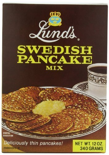 Lund's Swedish Pancake Mix, 12 Ounce Boxes (Pack of 3)