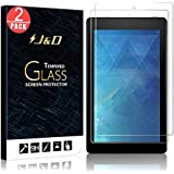 [2-Pack] All-New Fire 7 2017 Screen Protector, J&D Glass Screen Protector [Tempered Glass] HD Clear Ballistic Glass Screen Protector for Amazon All-New Fire 7 (Release in 2017)