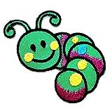 Nipitshop Patches Cute Green Fruit Worm Pretty