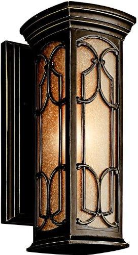 Kichler 49226OZ Franceasi Outdoor Wall 1-Light, Olde Bronze