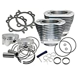S&S Cycle 4''; Bolt In Sidewinder Big Bore Cylinder and Piston Kit Silver