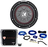 "Kicker 43CWRT672 6 3/4"" Shallow 300w Car Subwoofer Sub+Mono Amplifier+Amp Kit"