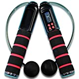 ECVISION® Digital Outdoor and Indoor Wireless Cordless Diet Skipping Rope Jumping Rope With Digital LCD Screen Showing Time,Calorie And Jump Counter-Free Juming Rope Included.