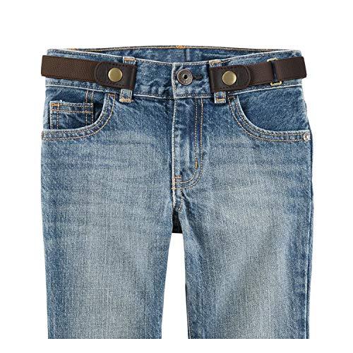 No Buckle Stretch Belt for Child Boys/Girls Buckle Free Kids Belt Buckleless for Pants Jeans