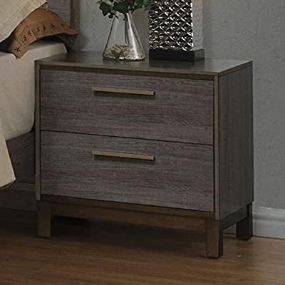 Benjara Benzara Manvel Contemporary Nightstand, Gray, - Includes one Nightstand only. This Nightstand includes two drawers. It is durable and Functional. - nightstands, bedroom-furniture, bedroom - 51ymBG7xOFL. SS400  -