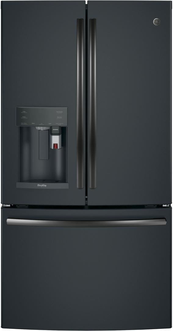 GE Profile PYE22PELDS Black Slate Series 36 Inch Smart Counter Depth French Door Refrigerator with 22.2 cu. ft. Total Capacity, in Black Slate