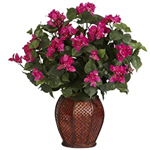 Nearly Natural 6652 Bougainvillea with Vase Decorative Silk Plant Beauty 57