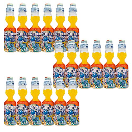 Sangaria Ramune, 6.76 Fluid Ounce (Orange, 18 Bottles)