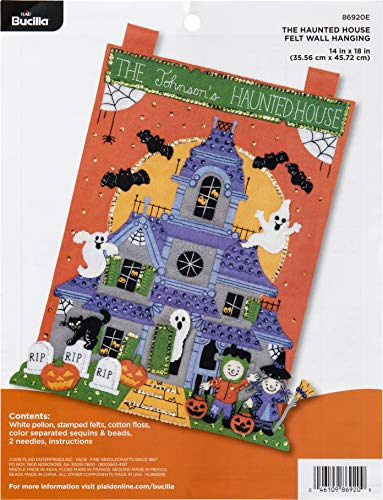 Bucilla Felt Applique Wall Hanging Kit, 14 by 18-Inch, 86920E The Haunted -