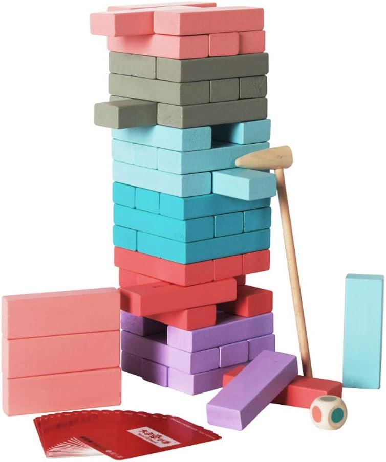 KuaiKeSport Jenga Juego,Juego Torre de Madera Juego Familiar Bloques de Construcción,Juego Madera Torre Juegos de Mesa para Regalo: Amazon.es: Deportes y aire libre