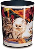Runner Trash, 13 Litre Trash can, Perfect for The Nursery, Round, Sturdy Plastic Cats Katzen