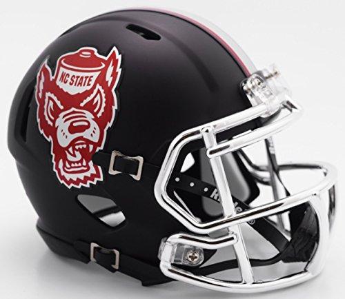 NC State Wolfpack Black Tuffy NCAA Riddell SPEED Mini (Nc State Wolfpack Mini)
