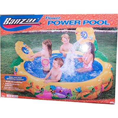 """Banzai Flower power Pool Set with Cute and Cool Sprinkling Daisy (Pool Size : 58"""" Diameter x 28"""" High): Toys & Games"""