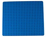 Strictly Briks Classic Big Briks Baseplate 100% Compatible with All Major Brands | Large Pegs for Toddlers | 13.75' x 16.25' Building Brick | Tight Fit Stackable Base Plate | Blue