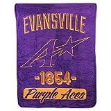 The Northwest Company NCAA Collegiate Varsity Super Soft Plush Throw Blanket (Evansville Purple Aces)