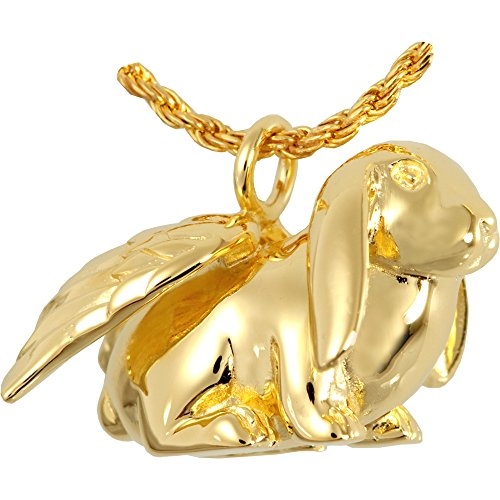 Cremation Memorial Jewelry: Gold Plated Lop (Rabbit Plated Necklace)