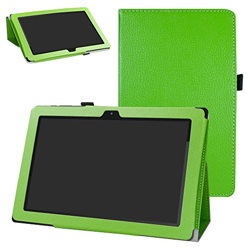 Astro Tab A10 Tablet Case,Bige PU Leather Folio 2-folding Stand Cover for  Astro Tab A10 10 Inch Android Tablet,Green