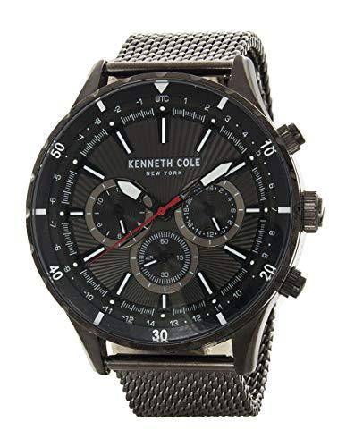 Kenneth Cole New York Men's Black Dial Black Mesh Band Watch KC50840001