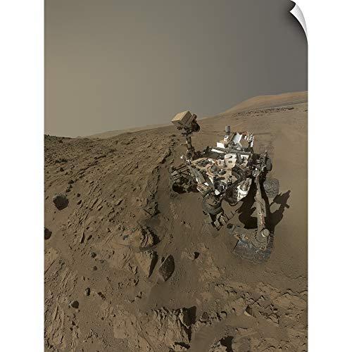 Stocktrek Images Wall Peel Wall Art Print Entitled NASA's Curiosity Mars Rover on Planet Mars 12