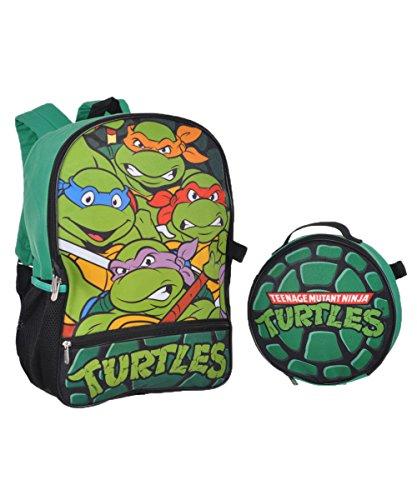 Nickelodeon Boys' Teenage Mutant Ninja Turtles Backpack with Lunch Kit, (Ninja Turtle Backpack)