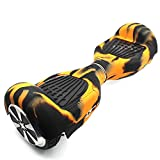 FBSport Rubber Guard Protection for Self Balancing Scooter Board , 100% Silicone for Guard for Self Balancing Segway Scooter Board. Best Safe and Cheap Way to Prevent Damage to Skateboard Orange/Black