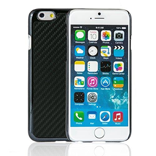 """iProtect housse de protection dur Hard Case en optique charbon Apple iPhone 6 (4,7"""") en noir"""