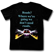 American Classics Back to The Future Roads - We Don't Need Roads Black Adult T-Shirt