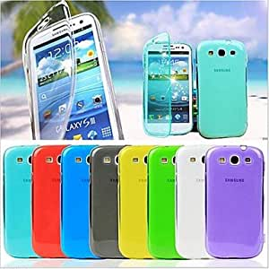 HJZ BIG D Touch View TPU Full Body Case for Samsung Galaxy S3 I9300(Assorted Colors) , Black