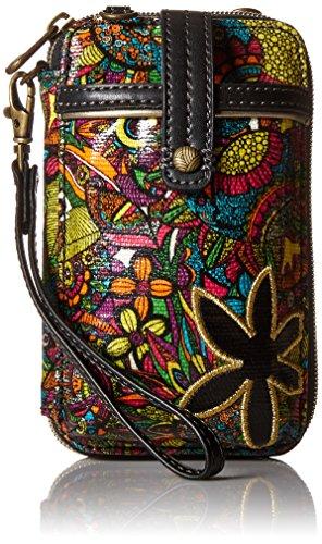 Sakroots Artist Circle Smartphone Wristlet, Rainbow Spirit Desert