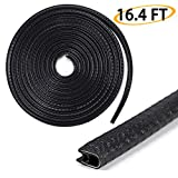 Car Door Edge Guards 16Ft - Sumnacon Flexible Rubber Edge Trim for Protecting Edges of Cars, Boats, Vehicles & Metal Glass Equipment, Durable and Removable Protector Guard Seal Strips