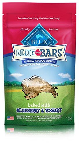 BLUE Mini Bars Blueberry & Yogurt Biscuit Dog Treats 8-oz
