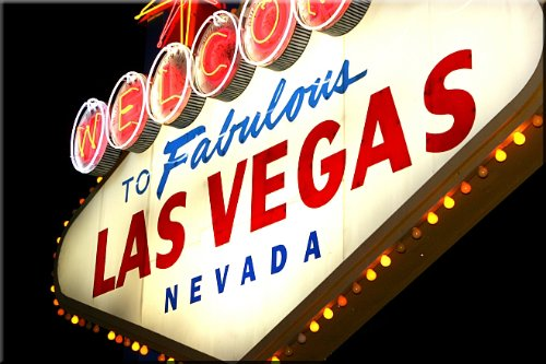 Startonight Wall Art Canvas Vegas Night Add, Cities USA Design for Home Decor, Dual View Surprise Artwork Modern Framed Ready to Hang Wall Art 23.62 X 35.43 Inch 100% Original Art (Halloween Decor Hobby Lobby)