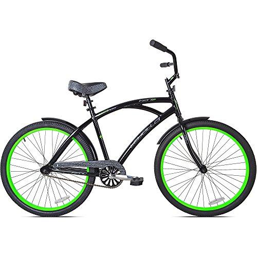 2634; Kent La Jolla Men39;s Cruiser Bike, Black/Green