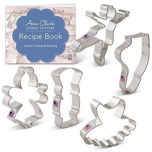 The Nutcracker Ballet Cookie Cutter Set - 5 piece - Nutcracker, Sugar Plum Fairy, Tutu, Ballerina and Ballet Slipper - Ann Clark - USA Made Steel