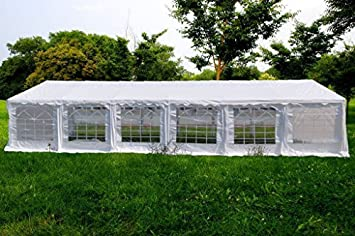 OTLIVE 40x20 ft Wedding Tent Party Easy Gazebo Steel Frame Commercial Canopy Pop Up White Tent & Amazon.com : OTLIVE 40x20 ft Wedding Tent Party Easy Gazebo Steel ...