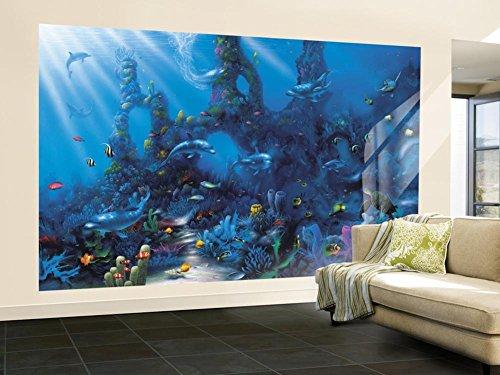 adise Huge Wall Mural Art (Ocean Wall Murals)