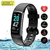 Yemo Updated 2019 Version Fitness Tracker HR, Activity Trackers Health Exercise Watch with Heart Rate and Sleep Monitor, Smart Band Calorie Counter, Step Counter, Pedometer Walking (Black)