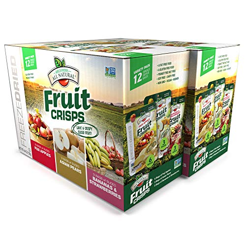 Snacks Natural Fruit All (Brothers-ALL-Natural Fruit Crisps, Variety Pack, 12 Count, 4.44 oz (Pack of 2))