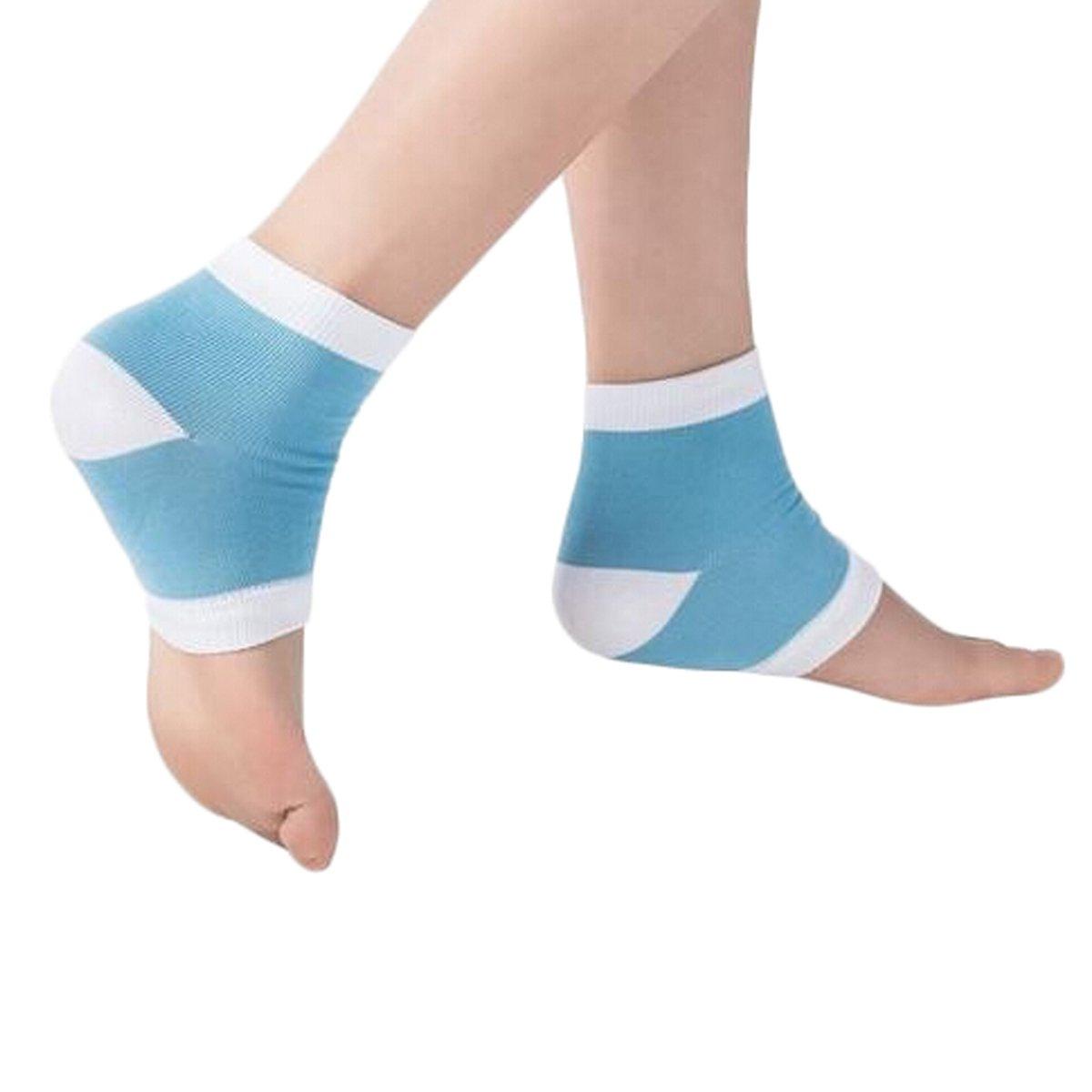 Feuchtigkeits-Gel-Ferse-Socken öffnen Zehe-Wiederaufnahmen-Socken-Schutz-Auflagen für das Knacken von Füßen (Rosa) Lional