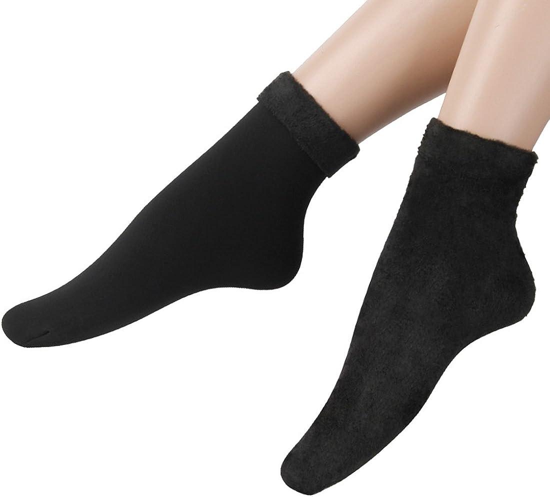 Fitu Womens Soft Warm Cozy Fuzzy Socks Plush Fluffy Fleece Socks 3 Pairs Within Gift Box