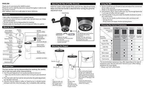 Hario Ceramic Coffee Mill -''Mini-Slim Pro''