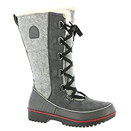 Sorel Tivoli High II Boot - Women\'s Dark Grey / Red Dahlia 9