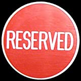 Trademark Poker Reserved Button, Great for Gaming Tables Dealer Button, Red