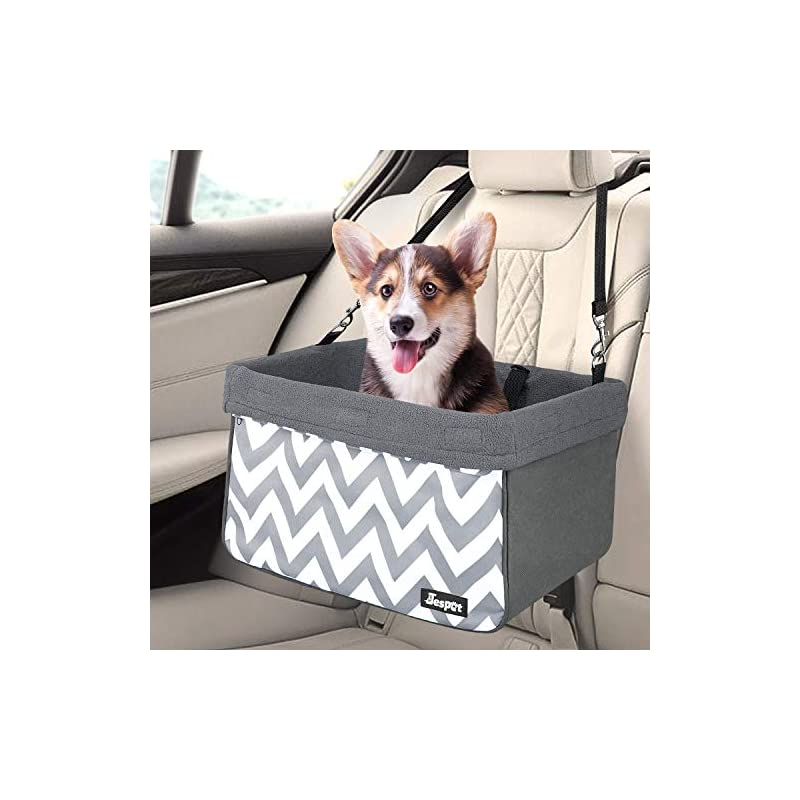 dog supplies online jespet dog booster seats for cars, portable dog car seat travel carrier with seat belt for 24lbs pets