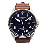 Torgoen T38 Blue Swiss Made Automatic Watch | 44mm - Vintage Leather...