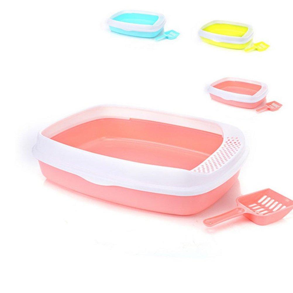 UKCOCO Arenero para Gatos, Bandeja higienica Gatos, Cajas de Arena de Plástico para Mascotas Gatos (Color Aleatorio): Amazon.es: Productos para mascotas