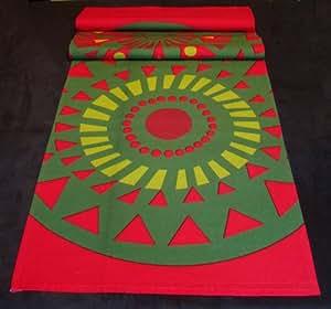 Marimekko Red & Green Taikamylly Table Runner