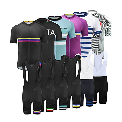 Bib Short Cycling Free (Uglyfrog 2017 Mens Short Sleeve Cycling Jersey+Short Bib Sets With Gel Pad Outdoor Sports Summer Style Bike ClothesCCJ02)