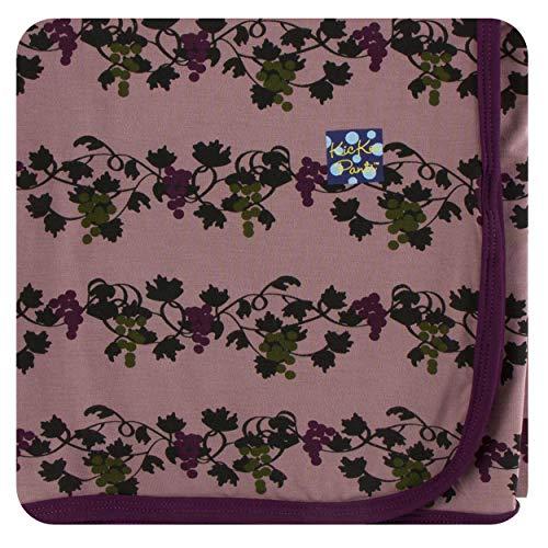 KicKee Pants Little Girls Print Swaddling Blanket - Raisin Grape Vines, One Size (Girl Infant Raisin)