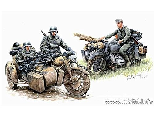 GERMAN MOTORCYCLE TROOPS ON THE MOVE BMW R75 1/35 MASTER BOX (Master Box Ltd)